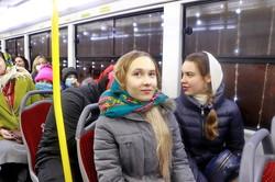 По Одессе проехали рождественские трамваи (ФОТО, ВИДЕО)