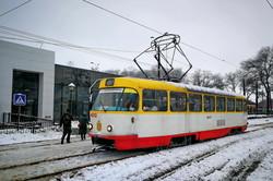 Как общественный транспорт в Одессе работал во время снежного циклона (ФОТО, ВИДЕО)