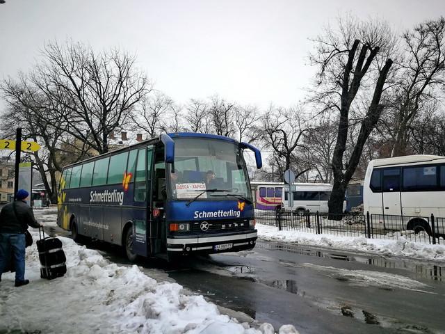 Снегопады: автотрассу Одесса - Киев уже перекрыли