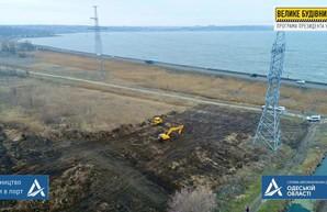 В Одессе началось строительство новой дороги в порт