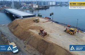 Как идет строительство моста по дороге между Одессой и Черноморском