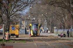 В Одессе возобновили движение трамваев на Алексеевскую площадь (ВИДЕО)