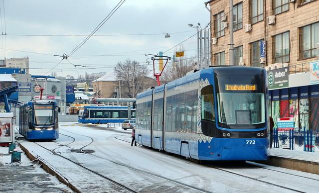 В Киеве надолго закрывают на ремонт Борщаговскую линию скоростного трамвая