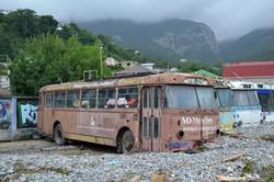 В оккупированном Крыму селевой поток засыпал троллейбусы (ФОТО)