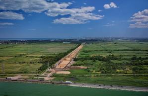 Стройку новой дороги в порт Одессы показали с высоты (ФОТО, ВИДЕО)