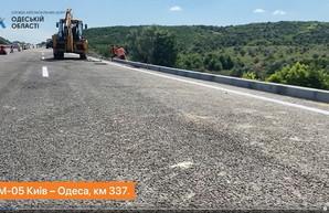 В Одесской области восстановили разрушенный оползнем участок автомагистрали