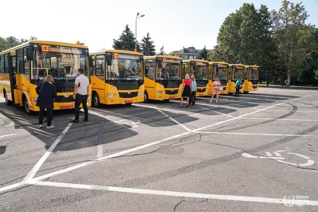 Одесская область получила новые школьные автобусы