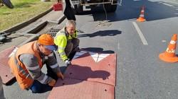 В Одессе установили новый для города тип ограничителей скорости на дорогах