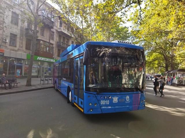 Первые новые троллейбусы по кредиту ЕБРР презентовали в Николаеве