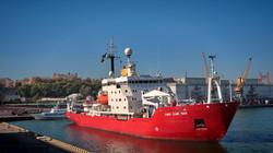 """В Одессу пришел исследовательский ледокол """"Джеймс Кларк Росс"""" (ФОТО, ВИДЕО)"""
